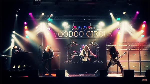 "Brand new VOODOO CIRCLE video clip ""Trapped In Paradise""!"